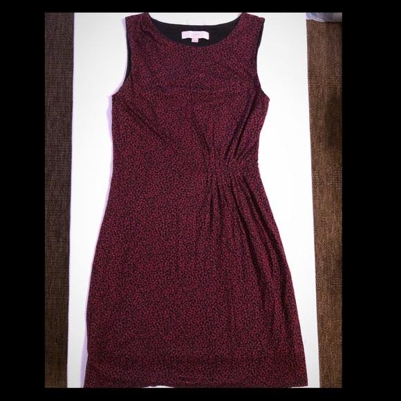 0cfc8c0771 LOFT Dresses | Red Leopard Print Dress | Poshmark